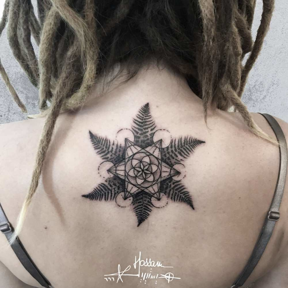 Tatmasters tattoo artist hossam hysteria graphicwatercolor sacred geometry ferns gumiabroncs Image collections